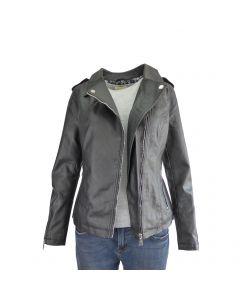 Jacheta dama Itenly Fashion - culoare neagra - piele ecologica - XS