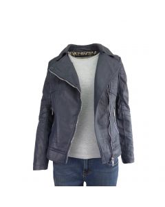 Jacheta dama Itenly Fashion - culoare albastru - piele ecologica - XS