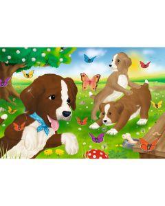Puzzle Schmidt pentru copii 60 piese: Cățeluși jucând