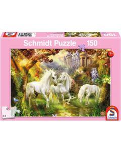 Puzzle Schmidt pentru copii 150 piese : Padurea Unicorn