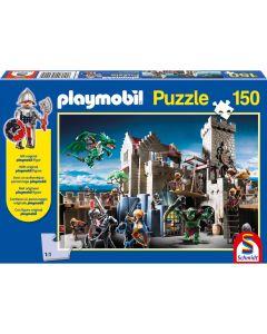 Puzzle Schmidt pentru copii 150 piese playmobil: Bătălia pentru comoara regală