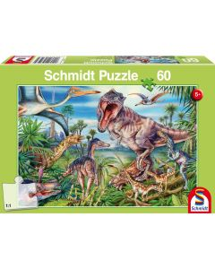 Puzzle Schmidt pentru copii 60 piese: Intre dinozauri