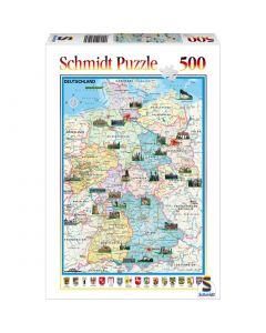Puzzle Schmidt 500 piese : Harta Germaniei