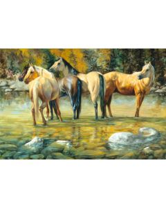 Puzzle Schmidt 1000 piese: Iubitori de cai