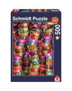 Puzzle Schmidt 500 piese : Cesti vesel colorate