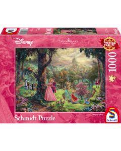 Puzzle Schmidt 1000 piese Disney Thomas Kinkade: Disney Frumoasa din pădurea adormită