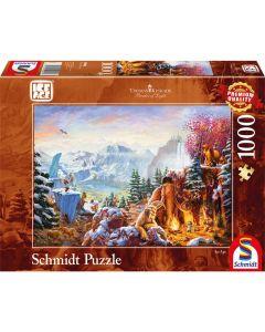 Puzzle Schmidt 1000 piese Disney Thomas Kinkade: Disney Epoca de gheață