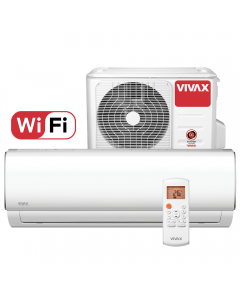 Aer conditionat Vivax ACP-12CH35AEMI M-Design Wi-Fi, Inverter, 12000 BTU/h, Clasa A++, ecran LCD, Pornire silentioasa, Sleep mode, Turbo mode, Timer, Protectie Anti-Inghet, Autocuratare, ECO-Mode