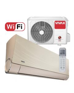 Aer conditionat Vivax ACP-12CH35AEVI GOLD V-Design Wi-Fi, Inverter, 12000 BTU/h, Clasa A++, Ionizator, I feel, 3D Airflow, Protectie Anti-Inghet, Autocuratare, Autodetectie scurgeri freon, filtru Bio, filtru Anti-Praf, ECO-Mode