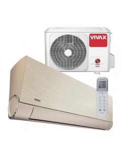 Aer conditionat Vivax ACP-12CH35AEVI GOLD V-Design Wi-Fi Ready, Inverter, 12000 BTU/h, Clasa A++, Ionizator, I feel, 3D Airflow, Protectie Anti-Inghet, Autocuratare, Autodetectie scurgeri freon, filtru Bio, filtru Anti-Praf, ECO-Mode