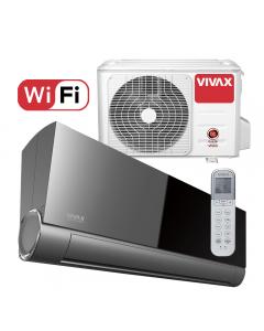 Aer conditionat Vivax ACP-18CH50AEVI BLACK MIRROR V-Design Wi-Fi, Inverter, 18000 BTU/h, Clasa A++, Ionizator, I feel, 3D Airflow, Protectie Anti-Inghet, Autodiagnoza, Autocuratare, Autodetectie scurgeri freon, filtru Bio, filtru Anti-Praf