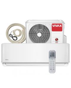 Aer conditionat Vivax ACP-18CH50AERI R-Design Wi-Fi Ready, Kit de instalare inclus, Inverter, 18000 BTU/h, Clasa A++, Ionizator, I feel, Autodiagnoza, Autocuratare, Autodetectie scurgeri freon, filtru Bio, filtru Anti-Praf, ECO-Mode