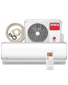 Aer conditionat Vivax ACP‐24CH70AEMI M-Design Wi-Fi Ready, Kit de instalare inclus, Inverter, 24000 BTU/h, Clasa A++, ecran LCD, Pornire silentioasa, Sleep mode, Turbo mode, Timer, Protectie Anti-Inghet, Autocuratare, ECO-Mode