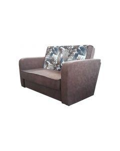 Canapea Meda,extensibila,lada de depozitare,Maro,140X90 cm