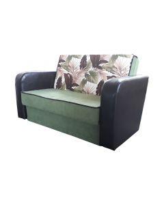 Canapea Meda,extensibila,lada de depozitare,Verde,140X90 cm