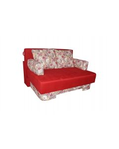 Canapea Diana extensibila,lada de depozitare,Rosie Flori,147x115x95 cm
