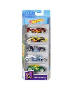 Set 5 masinute Hot Wheels, HW GLOW WHEELS