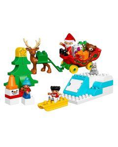 LEGO DUPLO Town Vacanta de iarna cu Mos Craciun 10837