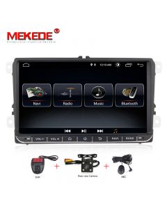 Sistem navigatie,VW, SKODA, SEAT,ecran 9 inch,Wi-fi,2DIN Microfon si Sistem DVR CADOU