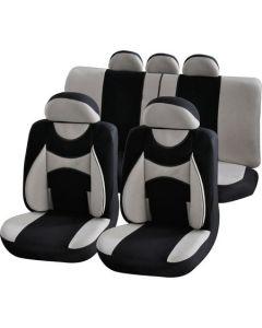 Set huse auto Procar Confort, 11 Piese, Gri/Negru