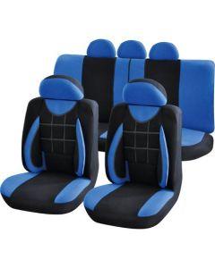 Set huse auto Procar Elegance, 11 Piese, Albastru