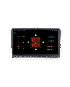 Sistem navigatie,VW, SKODA, SEAT,ecran 9 inch,Wi-fi,2DIN Microfon, Camera marsarier si Sistem DVR CADOU