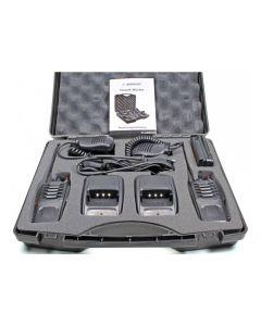 Statie radio PMR portabila Albrecht Tectalk Worker set cu 2buc Cod 29830 include Microfon cu difuzor