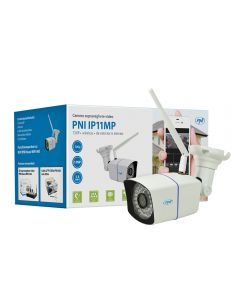 Camera supraveghere video PNI IP11MP 720p wireless cu IP de exterior si interior pt. WiFi400