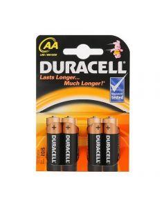 Baterie alcalina Duracell Basic AA sau R6 cod 81480573 blister cu 4bc