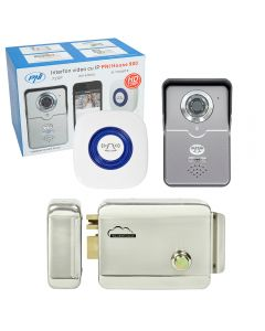 Kit Interfon video cu IP PNI House 900 si Yala electromagnetica SilverCloud YR300 cu butuc