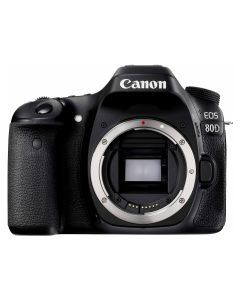 Canon EOS 80D Body, Premium KIT (Include: Rucsac Vanguard Reno 41KG, Acumulator suplimentar Jupio LP-E6, Card 32GB Lexar 95MB/s si Kit de Curatare 5 in 1)