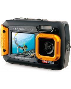 Camera Foto Subacvatica AquaPix W1400 Portocaliu + BONUS: 32GB mSD, Husa