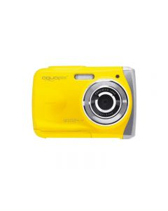 Aparat foto digital EasyPix W1024 Splash Waterproof, 16 MPx, Afisare Data, Galben + Bonus Husa