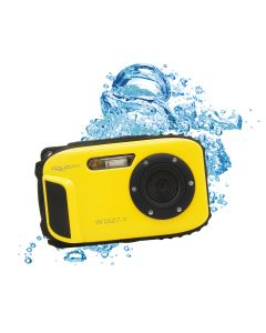 Aparat foto digital AquaPix W1627 Ocean, Waterproof, 16 MPx, Dustproof, Shockproof, Afisare Data, Galben + Bonus Husa
