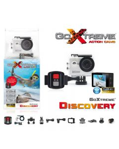 Camera Video de Actiune GoXtreme Discovery, 4K@10fps, FHD@30fps, WiFi, 140 grade, 12 MPx (INCLUDE 10 Accesorii si Telecomanda Radio), Scufundare 30m