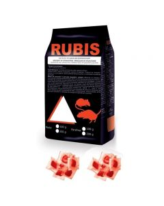 Rubis momeala raticida sub forma de pasta rosie, gata de utilizare