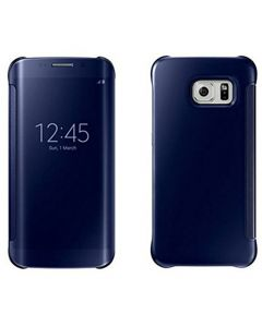 Husa Book Mirror Samsung S6 Edge Black Saphire, Clear View