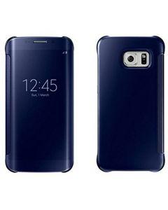 Husa Book Mirror Samsung S6 Edge Black Saphire, Clear View
