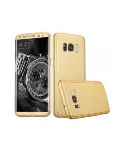 Husa Matte Premium, Samsung Galaxy S8 Full Cover 360 Auriu