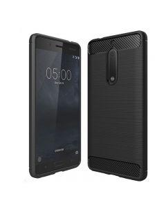 Husa de telefon Carbon Premium Protect, Nokia 5, 6 nivele de protectie, Finisaj metalic, Slim, Black