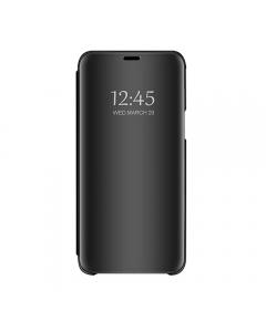Husa Book Flip Stand Mirror, Clear View, Samsung Galaxy J6 2018, Black