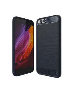 Husa de telefon Carbon Premium Protect, Xiaomi Mi6, 6 nivele de protectie, Finisaj metalic, Slim, Black