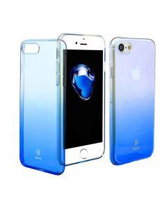 Husa Baseus Cameleon, iPhone 8, Transparent Blue, Tip CCC (Color Change Case)