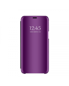 Husa Book Flip Stand Mirror, Clear View, Samsung Galaxy J6 2018, Violet