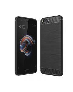 Husa de telefon Carbon Premium Protect, Xiaomi Note 3, 6 nivele de protectie, Finisaj metalic, Slim, Black