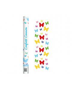 Tun confeti fluturi multicolori, 60cm