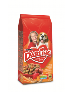 Hrana completa cu pui pentru caini adulti Purina Darling 3kg