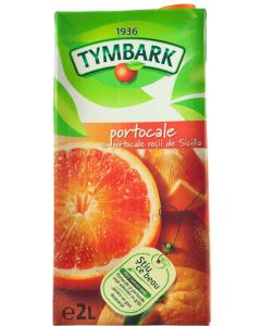 Bautura racoritoare cu suc de portocale si portocale rosii de Sicilia Tymbark 2L