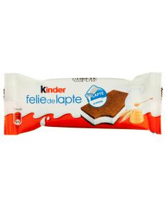 Desert felie de lapte Kinder 28g