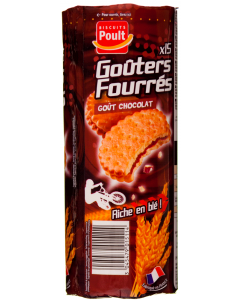 Biscuiti cu crema de cacao Poult 300g